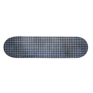 1155_navy-blue-grid-paper_ NAVY BLUE CLOUDY ABSTRA Skate Board