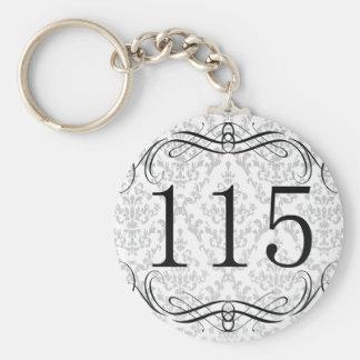 115 Area Code Keychain