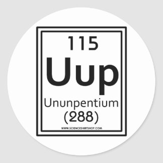 115 Ununpentium Round Sticker