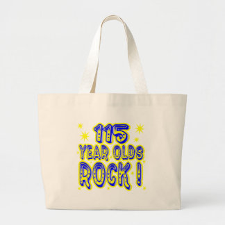 115 Year Olds Rock! (Blue) Tote Bag