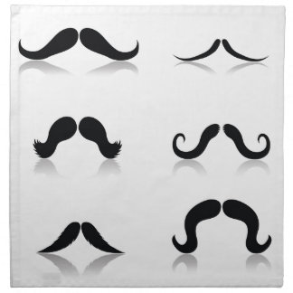 116Set of Mustaches_rasterized Napkin