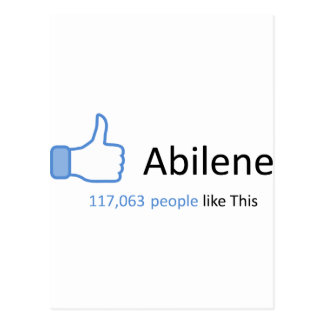 117063 people like Abilene Postcard