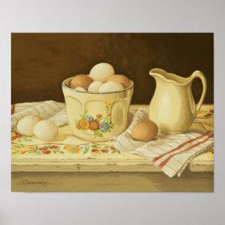 1175 Bowl of Eggs & Pitcher Art Print