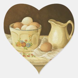 1175 Bowl of Eggs & Pitcher Heart Sticker