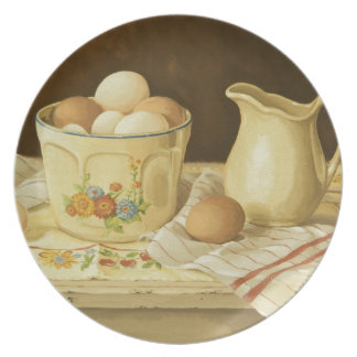 1175 Bowl of Eggs & Pitcher Party Plate