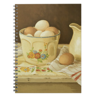 1175 Bowl of Eggs & Pitcher Spiral Note Book