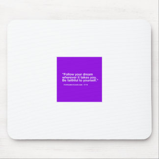 119 Small Business Owner Gift - Follow Dream Mouse Pad