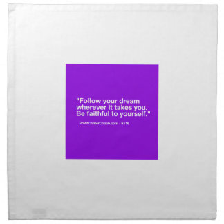 119 Small Business Owner Gift - Follow Dream Napkin