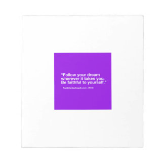 119 Small Business Owner Gift - Follow Dream Notepad