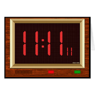 11:11 Clock (Red) Greeting Card