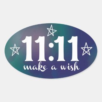 11:11, Make a Wish Oval Sticker