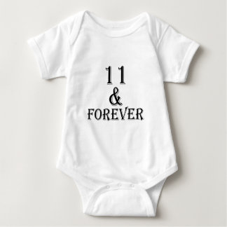 11 And  Forever Birthday Designs Baby Bodysuit