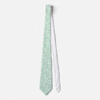 11 damassés florales vintages Menthe-Vertes en Cravate Avec Motifs