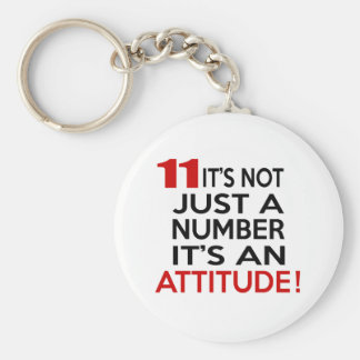 11 it's not just a number it's an attitude keychain