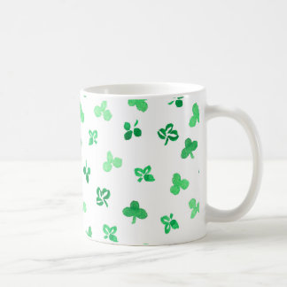 11 oz classic mug with clover leaves