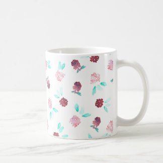 11 oz classic mug with flowers of clover
