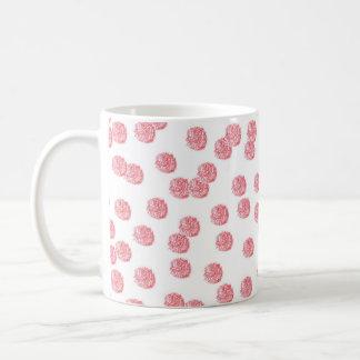 11 oz classic mug with red polka dots