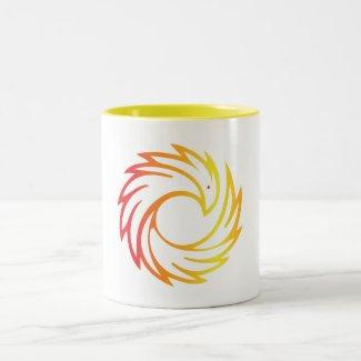 11 oz. Two Tone Mug with Phoenix
