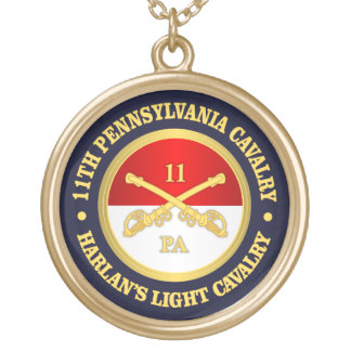 11 PA Cavalry Gold Plated Necklace