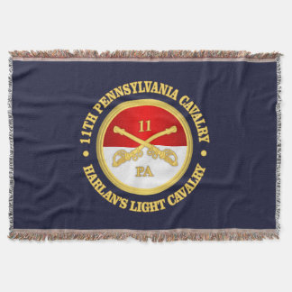 11 PA Cavalry Throw Blanket
