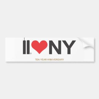 11 septembre anniversaire de l'amour NY de Tours j Autocollant De Voiture
