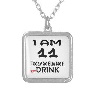 11 Today So Buy Me A Drink Silver Plated Necklace