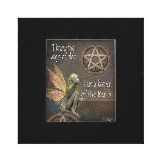 11 x 14  Keeper the Earth Fairy Canvas