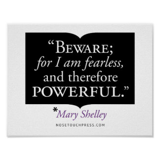"""11"""" x 8.5"""", Mary Shelley Quote Poster (Matte)"""