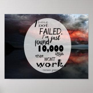 "11"" x 8.5"", Poster (Matte) Thomas Edison Quote"