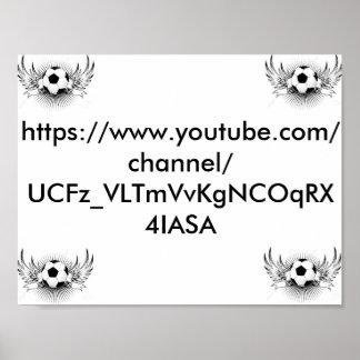 "11"" x 8.5"" Poster (YouTube Merch)"