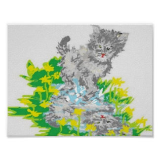 "11"" x 8.5"", Value Poster Paper (Matte) Kitten"