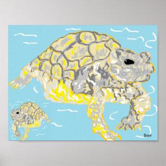 "11"" x 8.5"", Value Poster Paper (Matte)Sea Turtles"