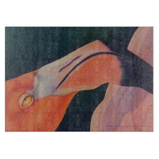 "11"" x 8"" Glass Flamingo Cutting Board"