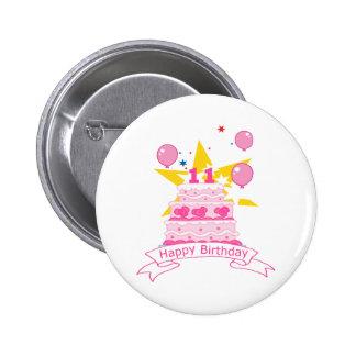 11 Year Old Birthday Cake Pins