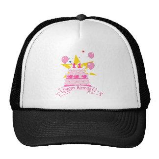 11 Year Old Birthday Cake Mesh Hats
