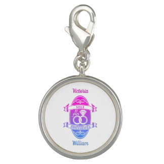 11 Year traditional Steel 11th wedding anniversary Charm