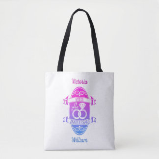 11 Year traditional Steel 11th wedding anniversary Tote Bag