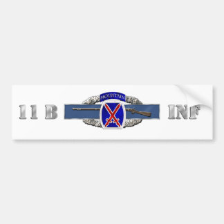 11B 10th Mountain Division Bumper Sticker