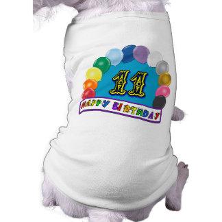 11ème Cadeaux d'anniversaire avec la conception as Vêtement Pour Chien
