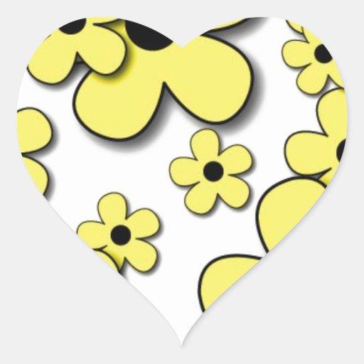 11jpg HAPPY HIPPIE YELLOW FLOWERS CARTOON PATTERN Stickers