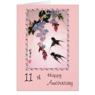 11th Anniversary card