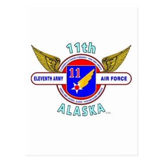 11TH ARMY AIR FORCE ARMY AIR CORPS WW II POSTCARDS