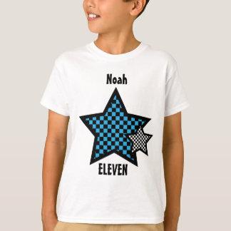 11th Birthday Boy CHECKED Star Custom Name V24 T-Shirt