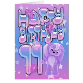 11th Birthday Card, Happy Birthday Card
