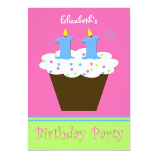 11th Birthday Party Invitation 11 Candles