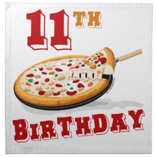 11th Birthday Pizza party Cloth Napkin
