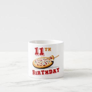 11th Birthday Pizza party Espresso Mug