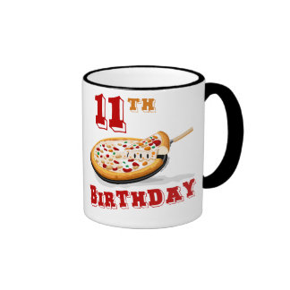 11th Birthday Pizza party Coffee Mugs