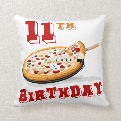 11th Birthday Pizza party Pillow