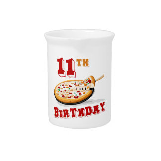 11th Birthday Pizza party Pitchers